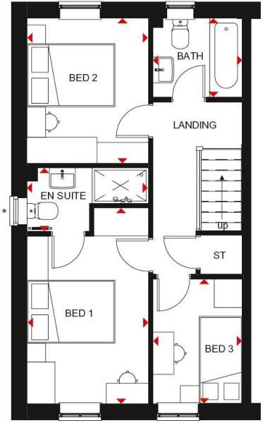 Maidstone first floor plan