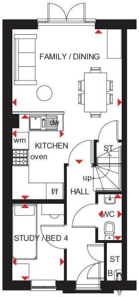 Kingsville ground floor plan