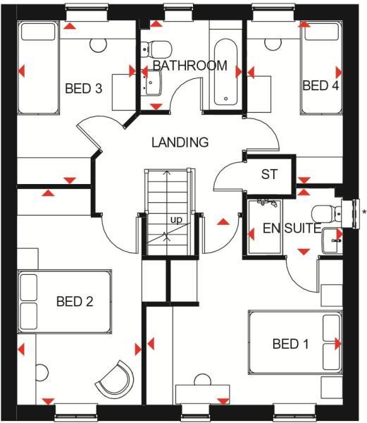 Gloucester first floor plan