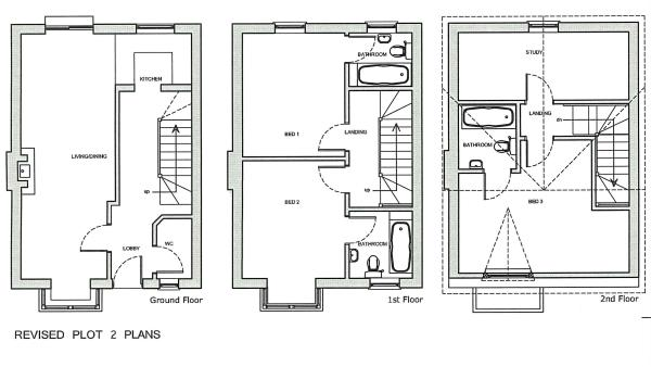 Plot 2 floor plan...