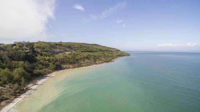 Totland Bay beach...