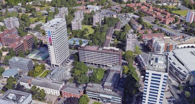 2 Duchess Place, Edgbaston - Aerial