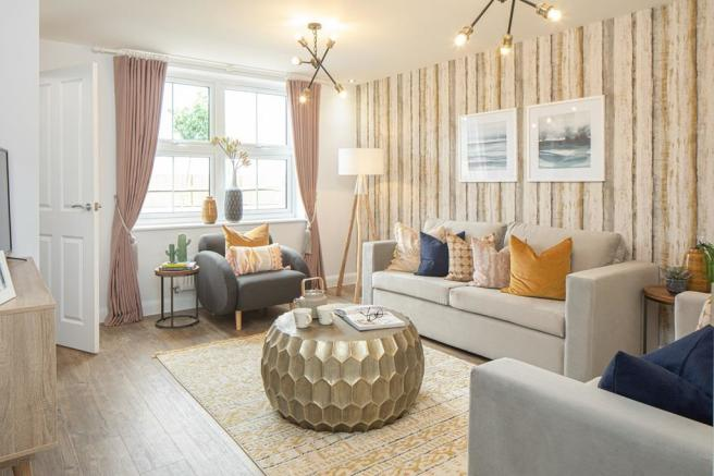 Lounge of the Archford semi-detached 3 bedroom home