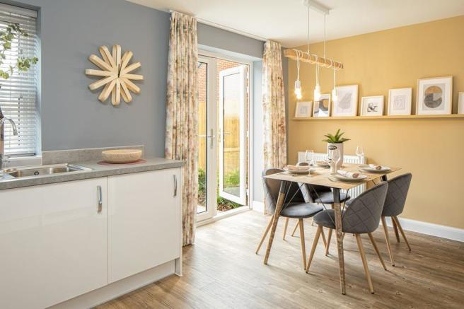 Dining area of the Archford semi-detached 3 bedroom home