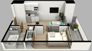 1 Bed Type B
