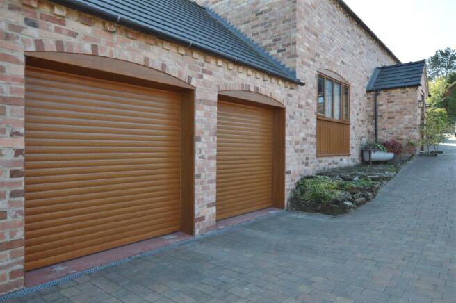 Attached Brick Double Garage