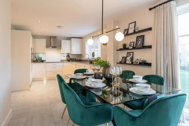 A sociable kitchen dining room