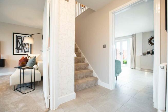 A warm hallway welcomes you home