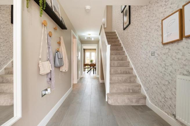 A bright hallway welcomes you home