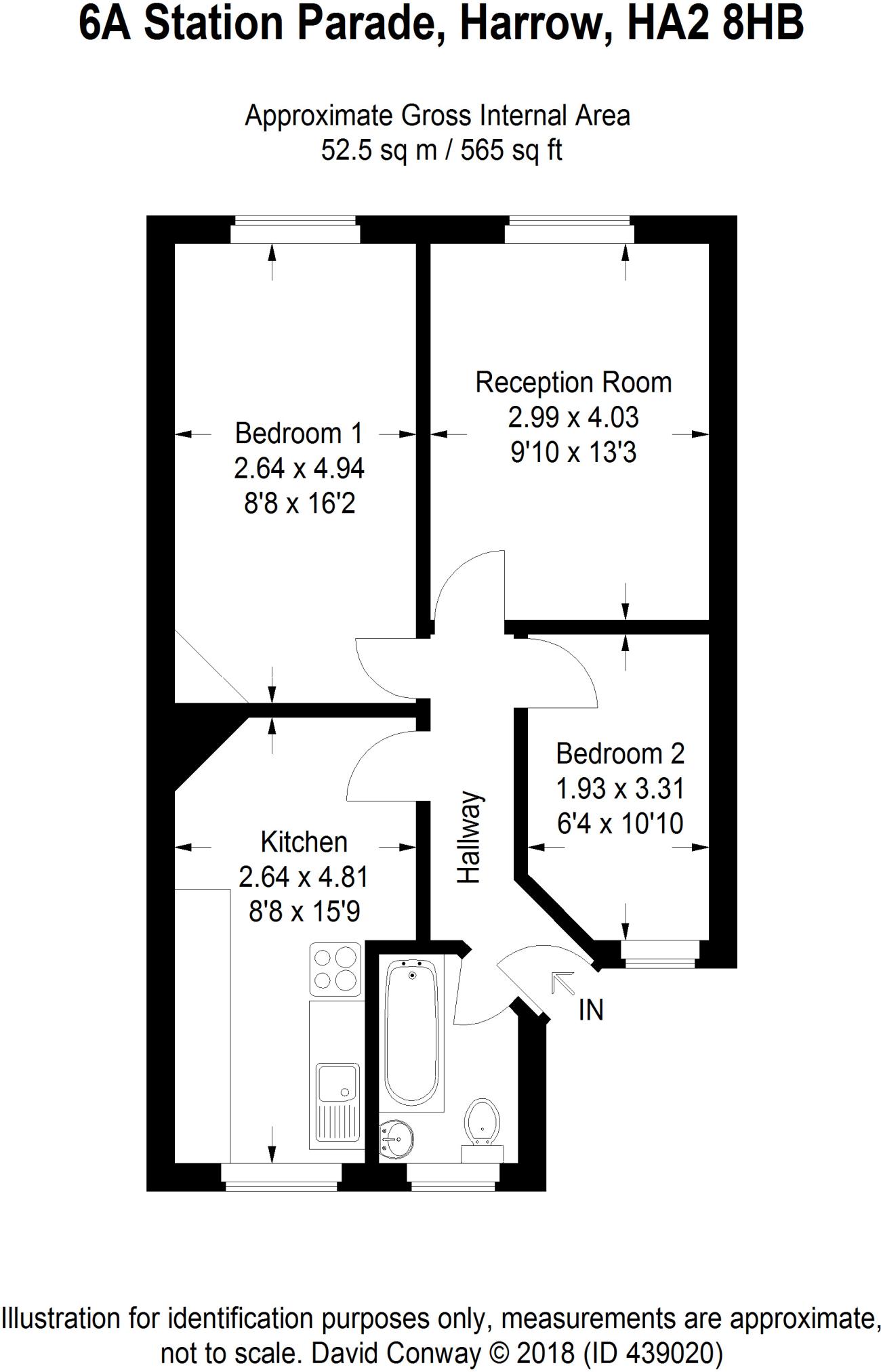 2 bedroom flat for sale in Station Parade, Northolt Road, South ...