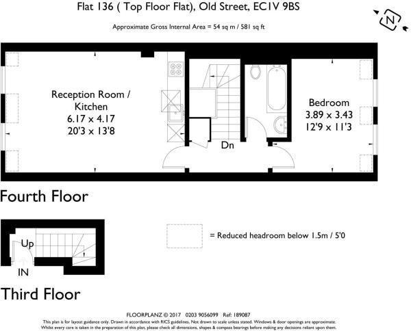 Old Street flat 136 ( top floor flat) 189087 fp-A4