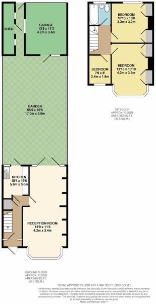 Floor Plan - Great Cambridge Road, Enfield, EN1 1S