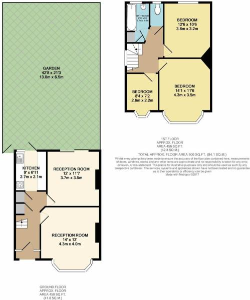 Floor Plan - 13 Orchard Crescent, Enfield, EN1 3NS