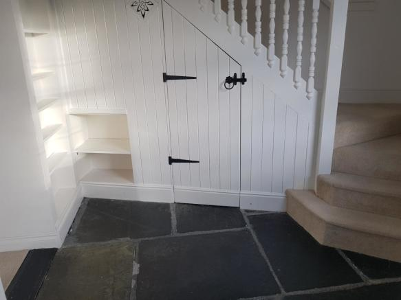 Stairway with storage and space for study desk