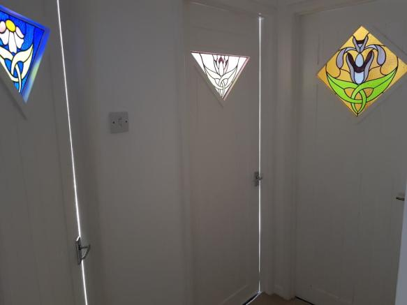 Stained glass internal doors