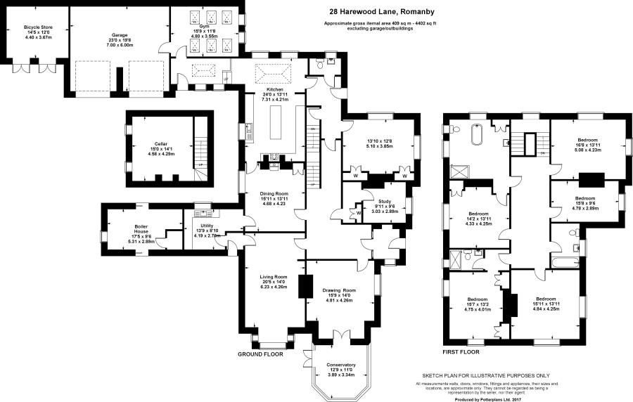 5 bedroom detached house for sale in Harewood House 28 Harewood – Harewood House Floor Plan