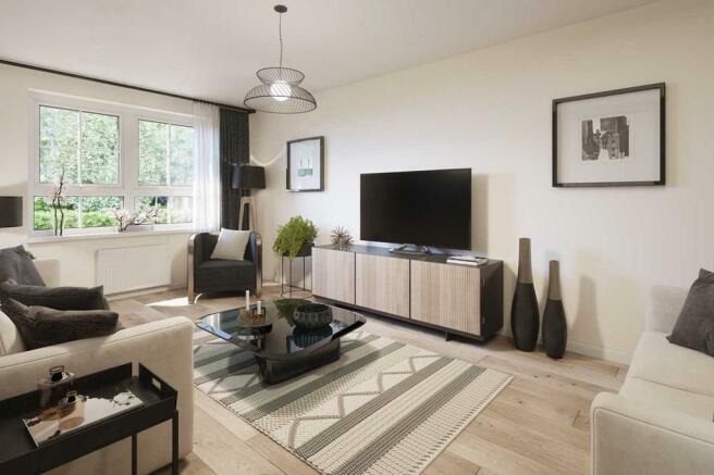 Ascot 4 bedroom home lounge internal