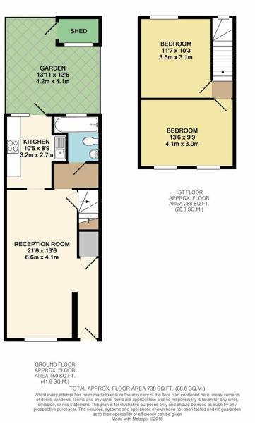Floor Plan - 198 Morley Avenue, Wood Green, N22 6N