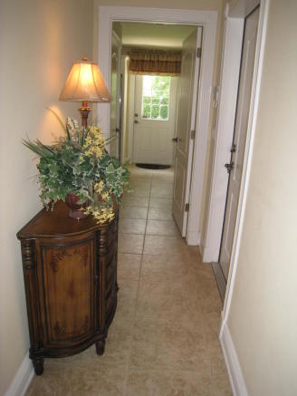 hallway to back door
