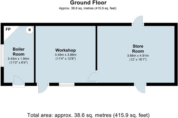 Outbuildings at The Old Smithy Odstone- floor plan