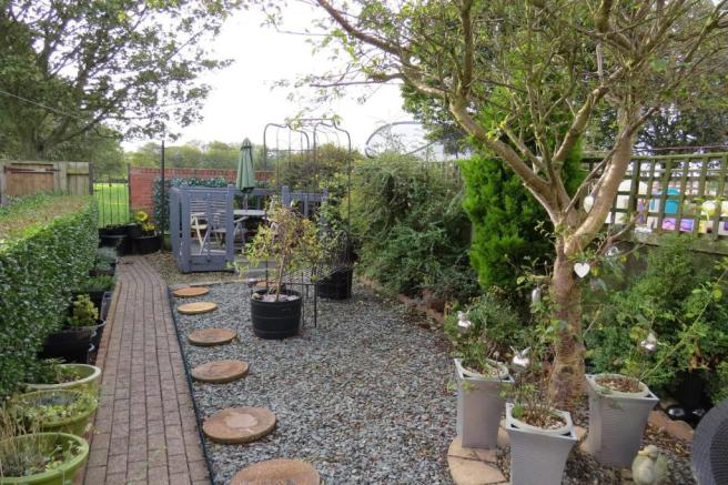GOOD SIZE WELL TENDED PATIO GARDEN