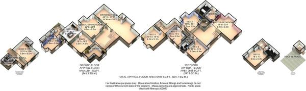 Hall 3D Floor Plan
