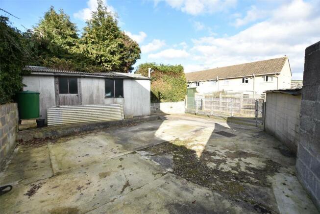Land at rear and garage