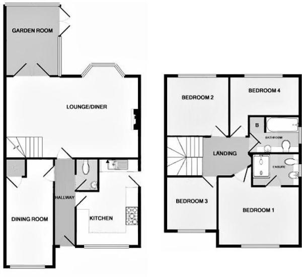 Ulleswater Crescent, Ashby De La Zouch floor plan.