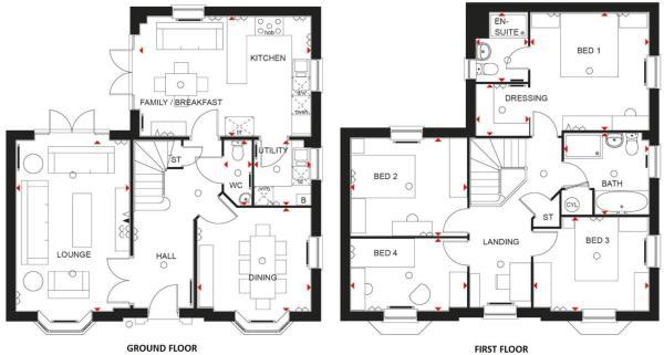 Pickerings Avenue, Measham floor plan.JPG