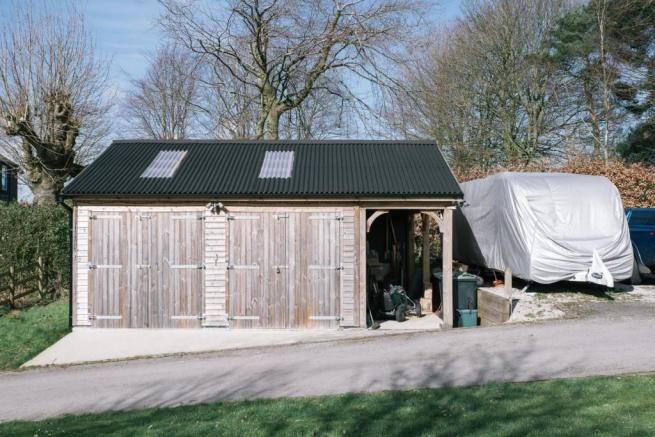 Double garage and parking