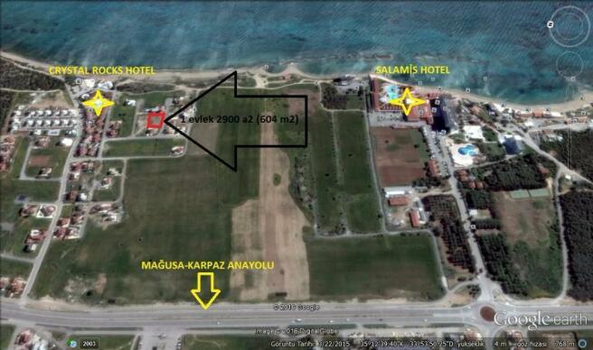 Plot for sale in Yenibogazici, Famagusta, Northern Cyprus