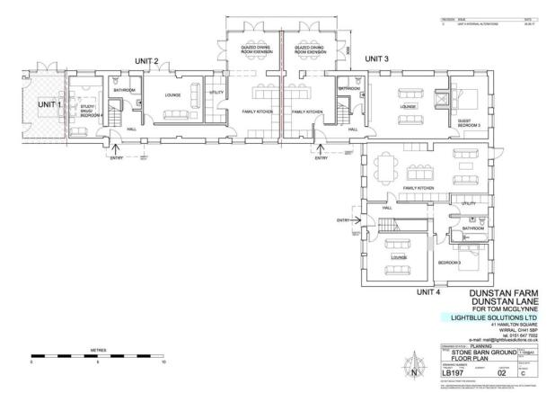 LB197 02B - STONE BARN GROUND FLOOR PLAN Unit 4 Re