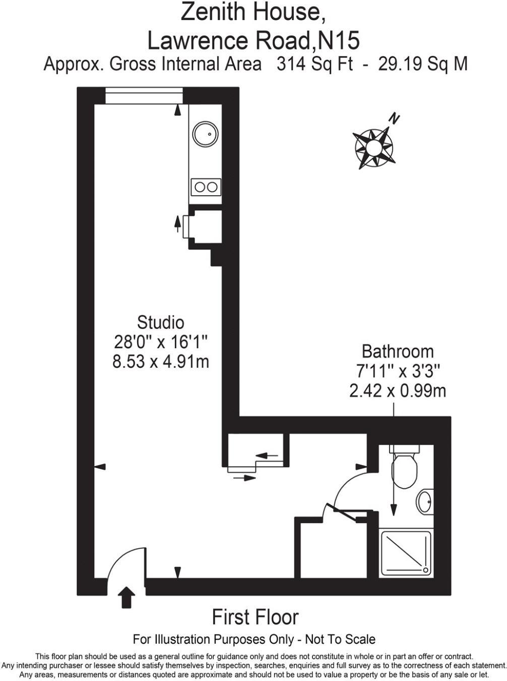 Studio Flat To Rent In Zenith House 69 Lawrence Road London N15 Ellis Wiring Diagram