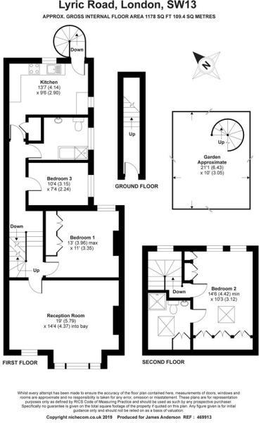 3 bedroom flat for sale in Lyric Road, Barnes, SW13, SW13