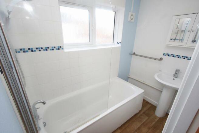 The bathroom i...