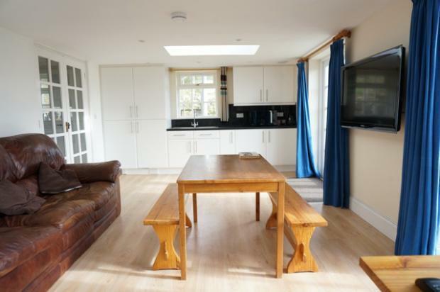 Annex kitchen, living room