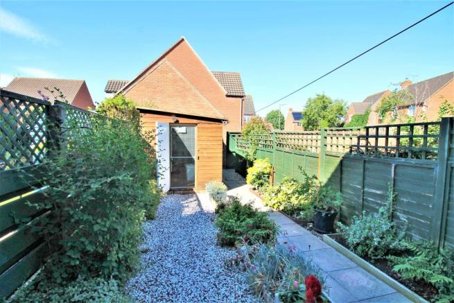Rear Garden With Large Shed