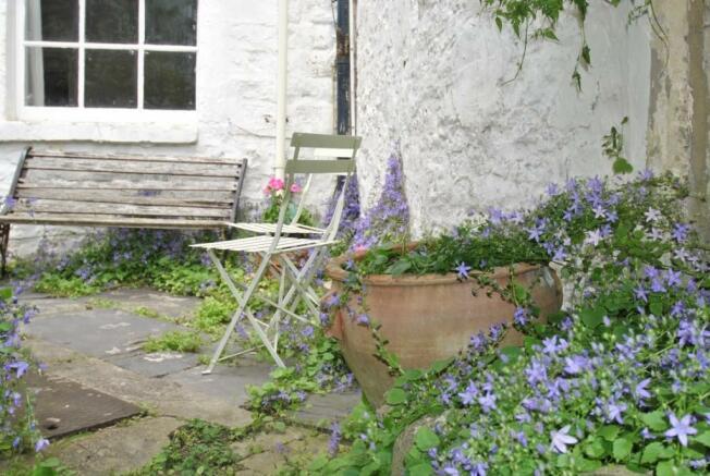 Picture of garden courtyard Brunswick Place garden flat