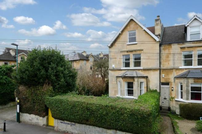 end terrace Victorian house in St Saviours Road Larkhall Bath with Pritchards Bath