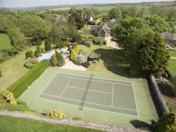 Tennis Court and Swimming Pool
