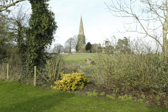 View towards church