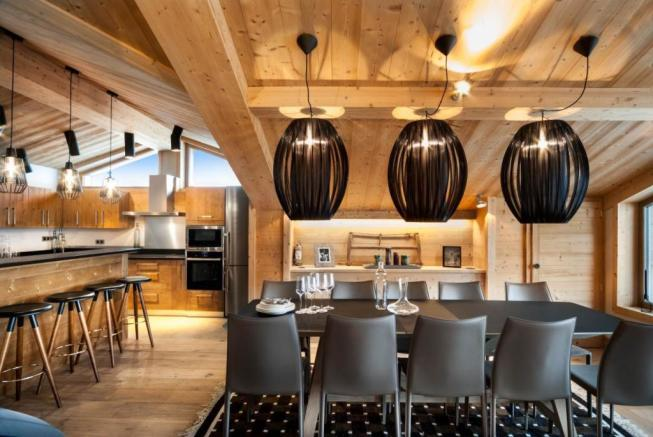 The ski chalet for s