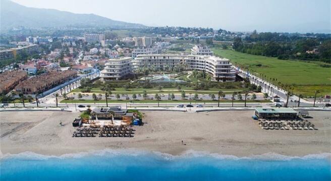 Beachfront complex!