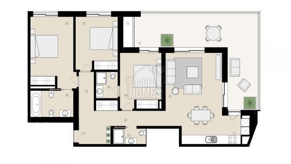 Floor plan T3