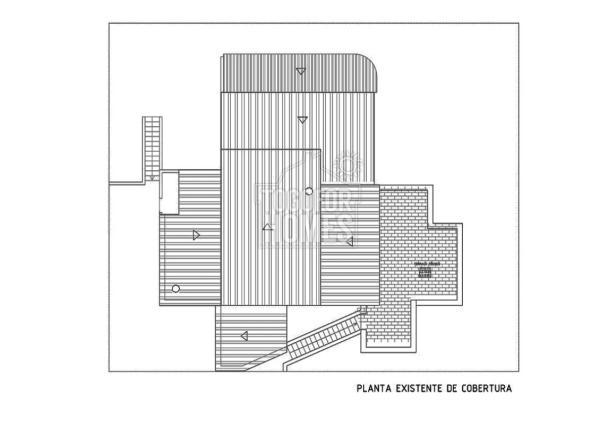Planta Cobertura  Existente Casa Mocho