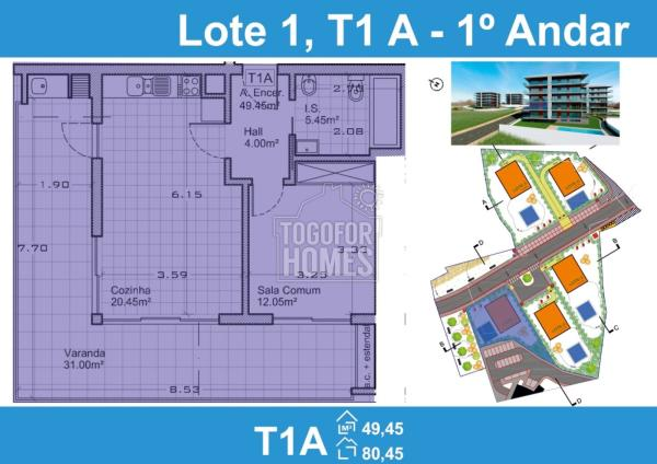 Lote 1 1 andar T1A