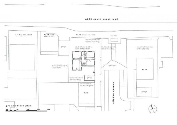 Existing ground floor site plan