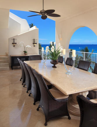 Terrace dining area sea ocean view Saint Peter's Bay