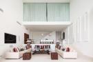 Living room full height ceiling mezzanine Villa Gertrudis Ibiza