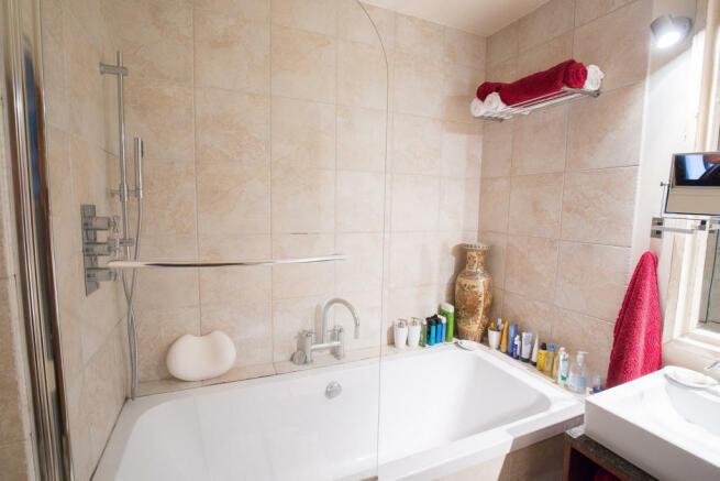 Bathroom marble shower Rue Frederic Sauton Paris